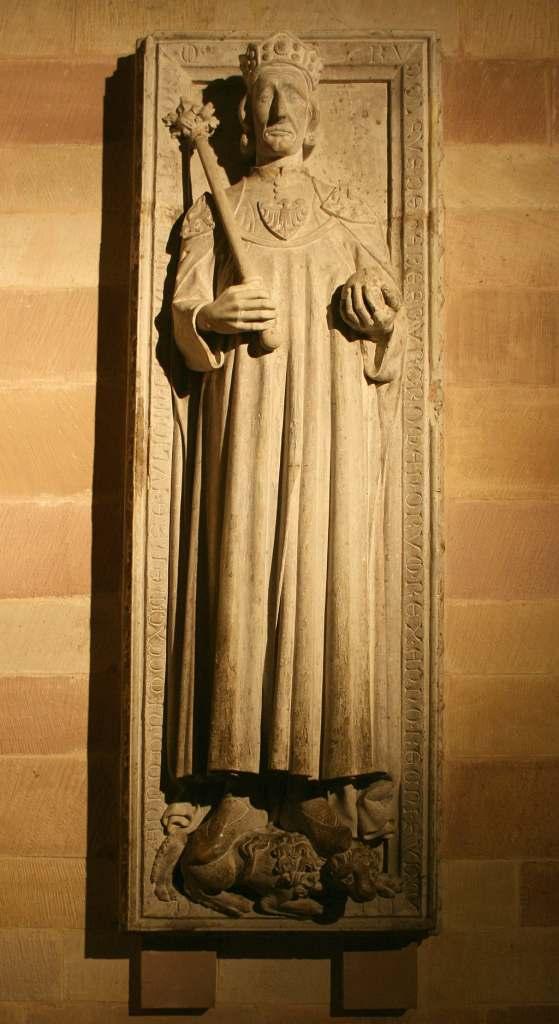 An old Statue of Rudolf Von Habsburg Speyer.