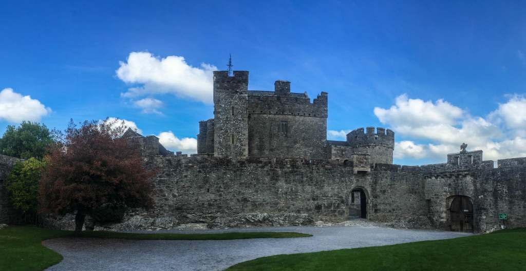 An external view of the beautiful structure of Cahir castle.
