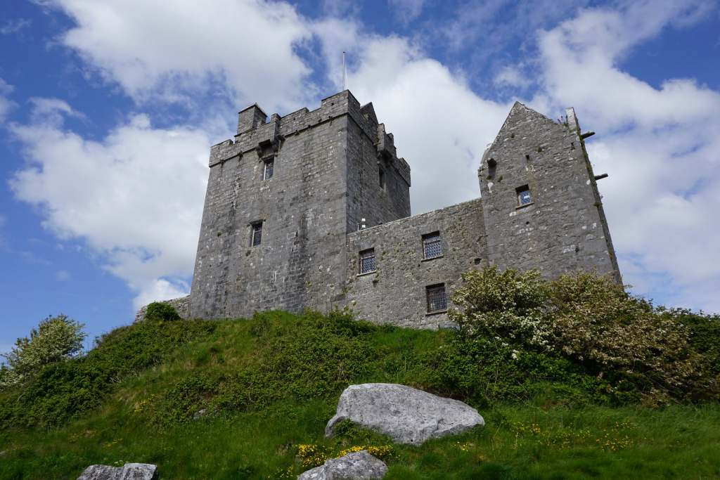 A worm's eye view of Dunguaire Castle.