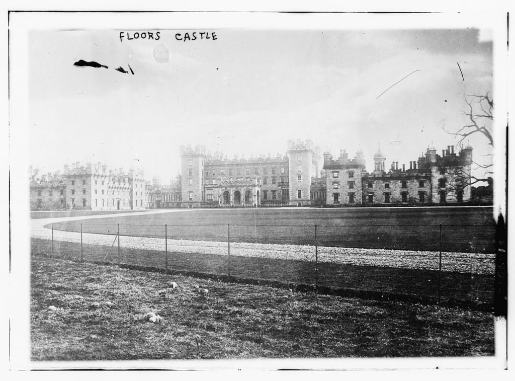 Old photo of Floors Castle.