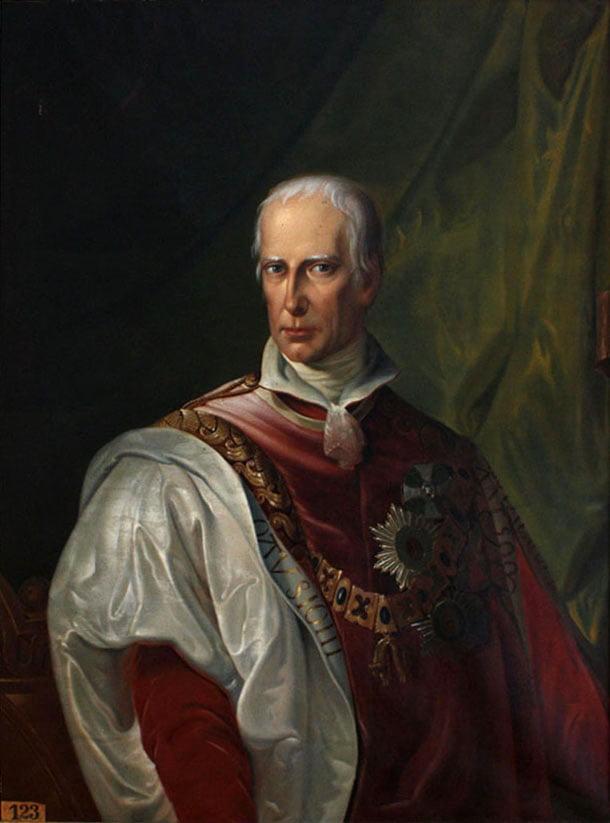 A portrait of King Francois II.