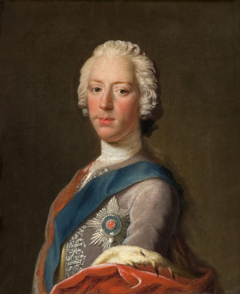 A portrait of Charles Edward Stewart (Charles III) who was supported by the Stewarts of Appin .