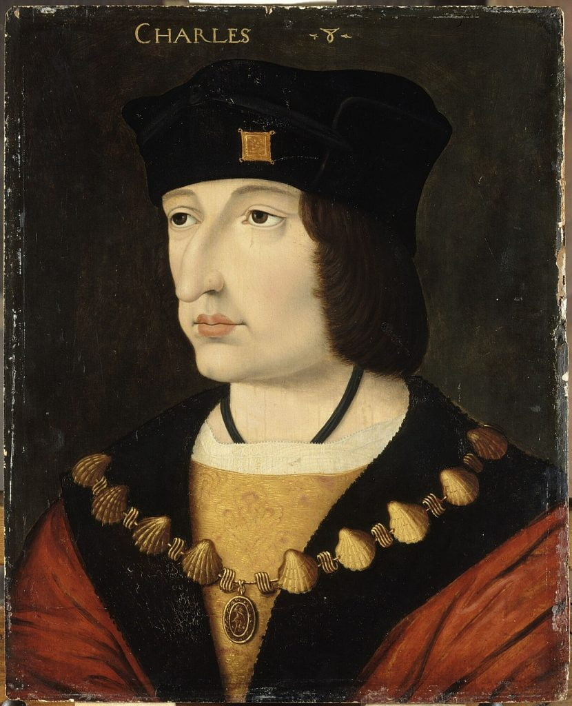 A portrait of King Charles VIII of France
