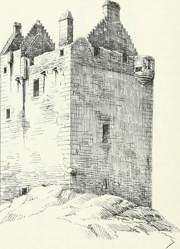 A close-up rendering of the Castle Stalker walls.