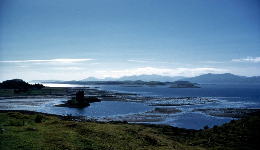 Castle Stalker view from above the mountain.