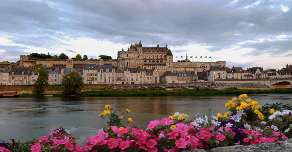The beautiful panoramic view of Chateau d'Amboise from afar.