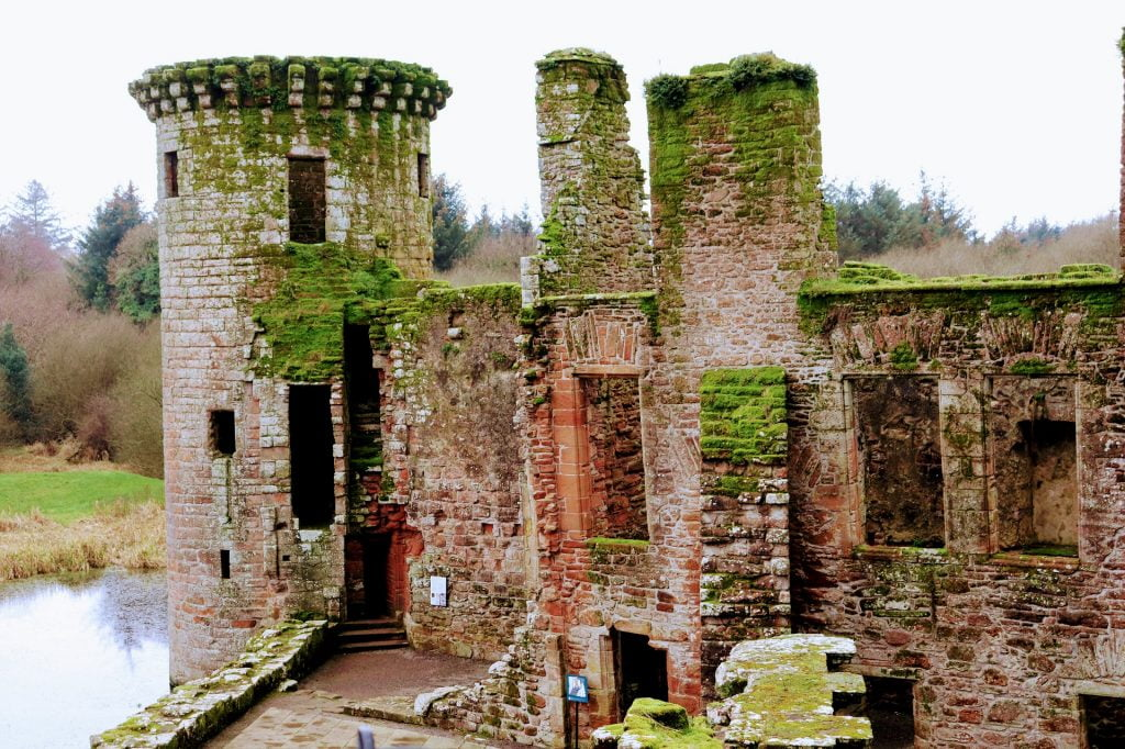 The current condition of Caerlaverock Castle.