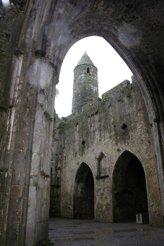 A detailed view of The Rock of Cashel from the inside.