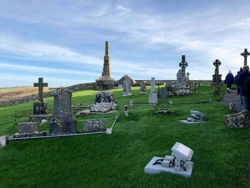 The graveyard at the Rock of Cashel.