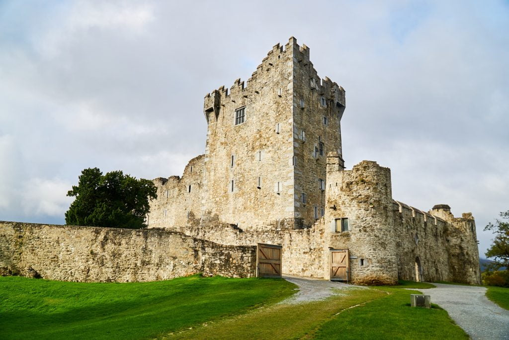 A view of the formidable architecture of Ross Castle.