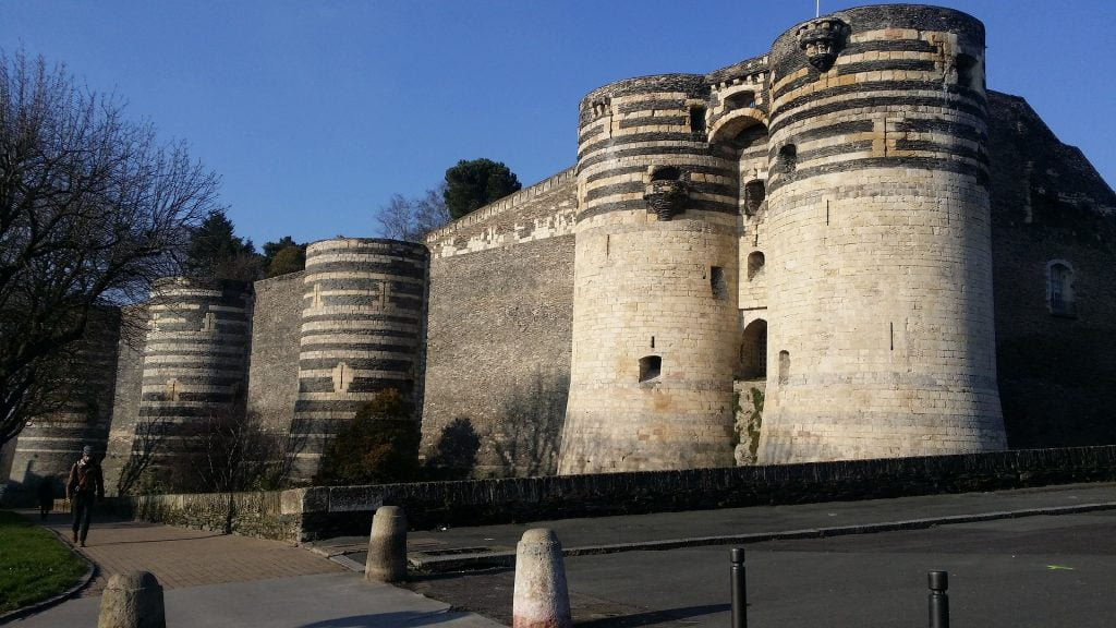 The defensive walls of Chateau d'Angers