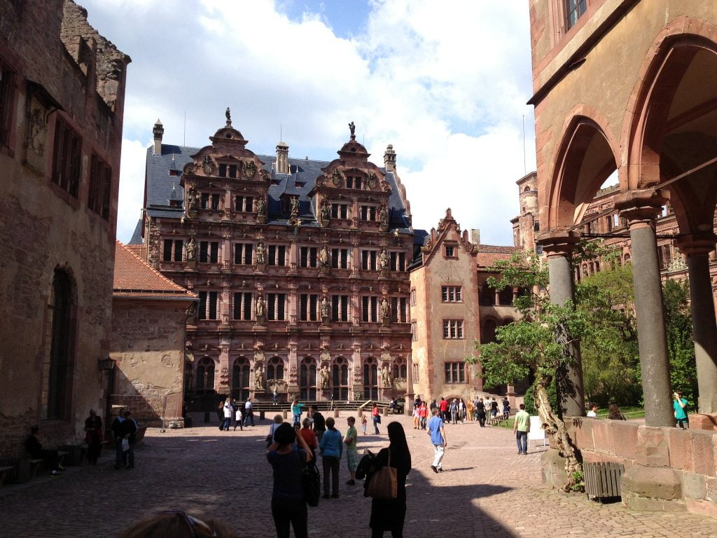 The Tourists spotted at Heidelberg Castle's courtyard.