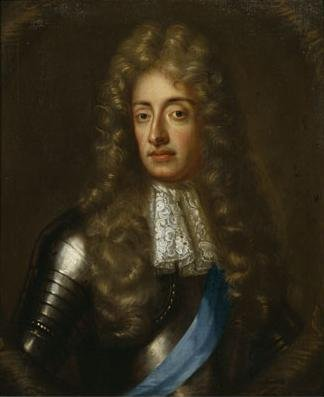 A portrait of King James II and VII.