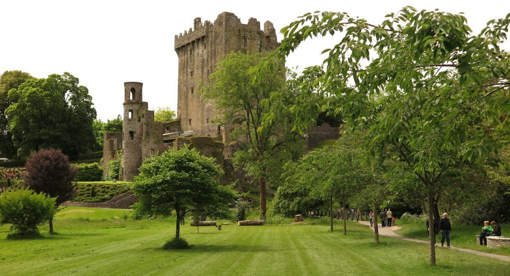 The first angle of Blarney Castle seen from the grounds entrance (the Stone is on the other side of the tower)
