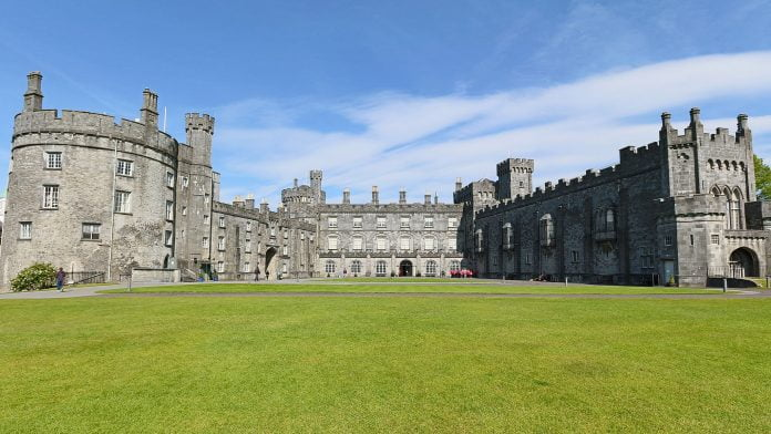 Full view of Kilkenny Castle's structure.
