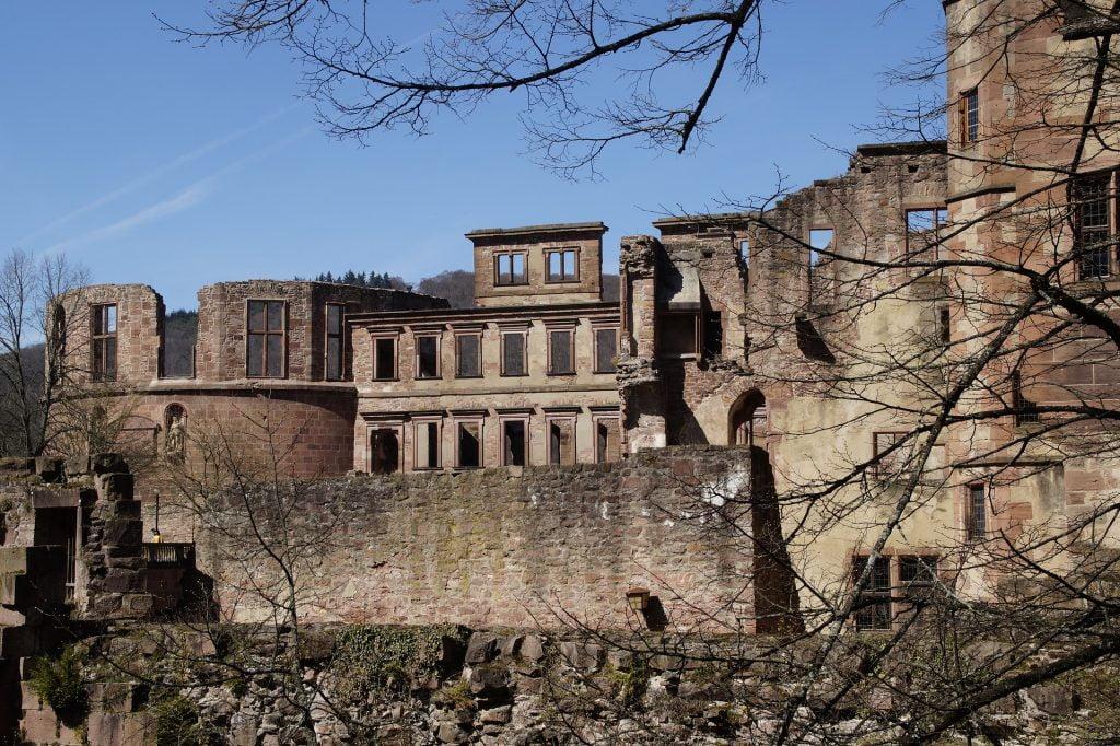 Some of the ruins still prevalent at Heidelberg Castle